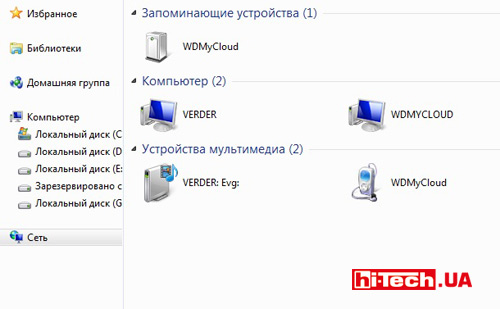 Фирменное приложение для доступа к WD My Cloud