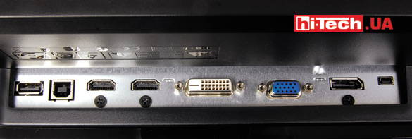 Игровой монитор BenQ XL2420Z. Панель разъемов