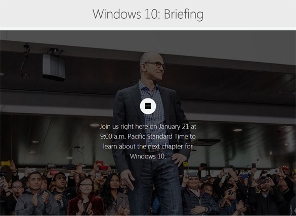 Microsoft Windows10 briefing