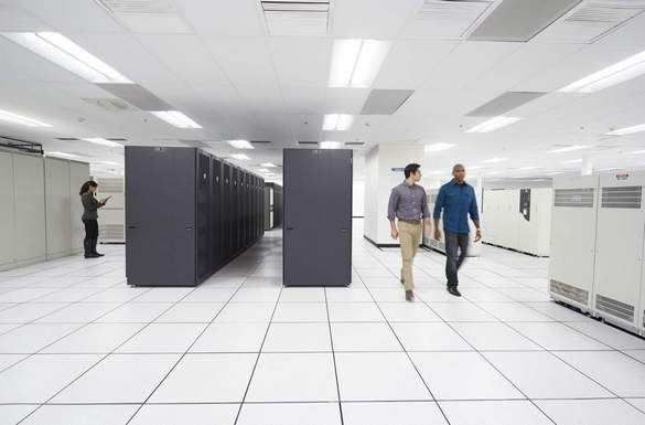 Workers in a Large Data Center