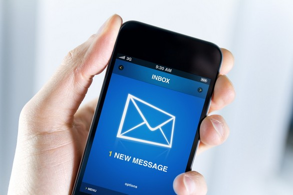 Have a new message on mobile phone