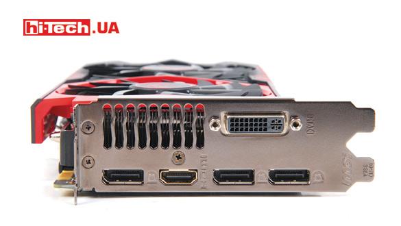 Набор разъемов стандартен как для видеокарты на базе GTX 960