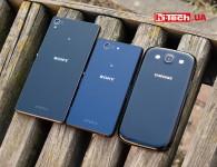 Sony Xperia Z3, Sony Xperia Z3 Compact и Samsung Galaxy s3. Сравнение размеров