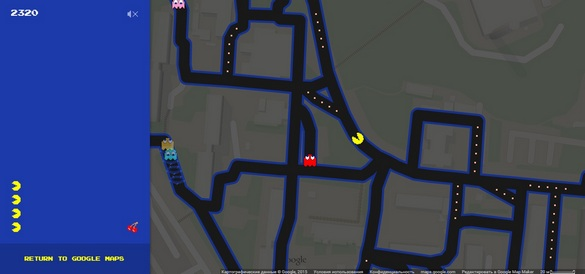 pac man google maps2