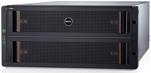 Dell Storage PS6610 high-performance storage array, 5U with 84 HDDs.