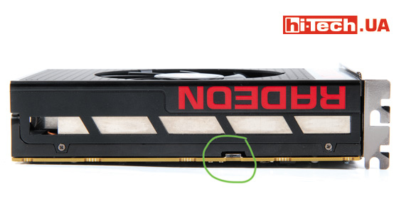 Традиционно для многих видеокарт AMD, R9 Nano имеет переключатель, позволяющий выбрать один из двух BIOS для работы