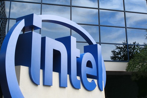 intel logo office