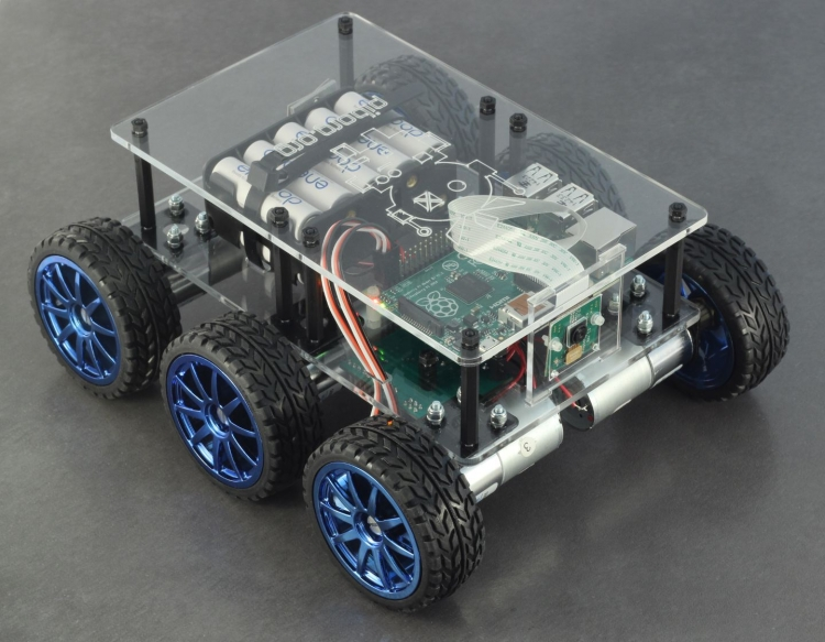 sm.PiBorg DiddyBorg Clear Raspberry Pi Robot front 1440.750