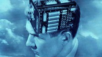 Creative engineering. Vintage illustration of the head of a man with an electronic circuit board for a brain. Screen print, 1949. --- Image by © GraphicaArtis/Corbis