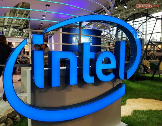 Intel logo booth