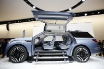 The Lincoln Navigator Concept is shown at the New York International Auto Show, Wednesday, March 23, 2016. (AP Photo/Mark Lennihan)
