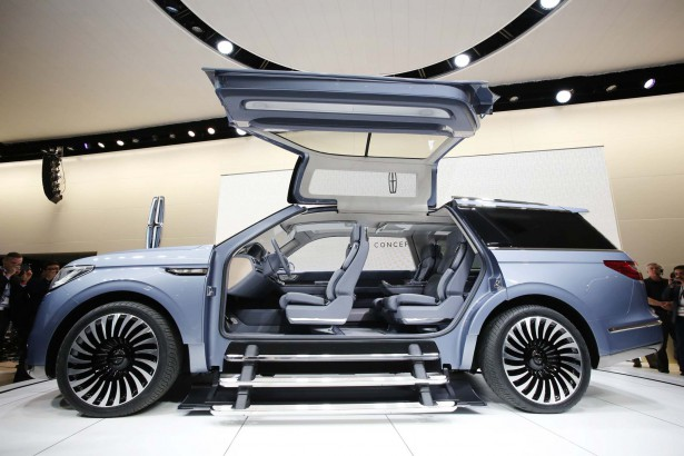 The Lincoln Navigator Concept is shown at the New York International Auto Show, Wednesday, March 23, 2016. <a href=