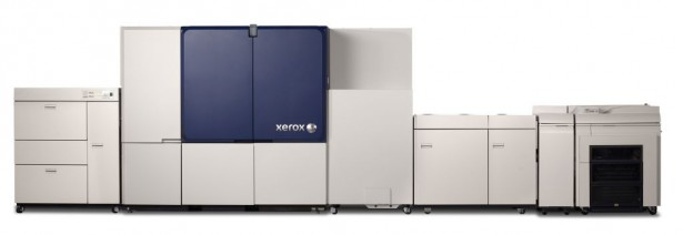 The Xerox Brenva HD Production Inkjet Press is Xerox's first cut-sheet inkjet press. <a href=
