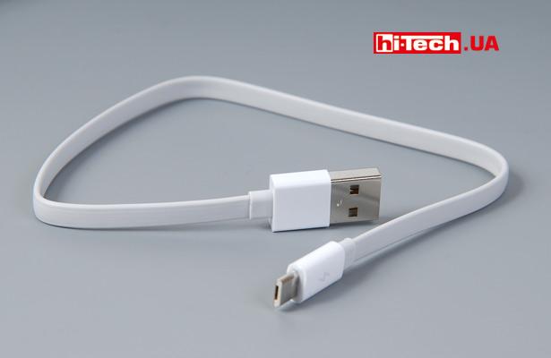В комплекте с устройством поставляется USB-провод плиной около 30 см
