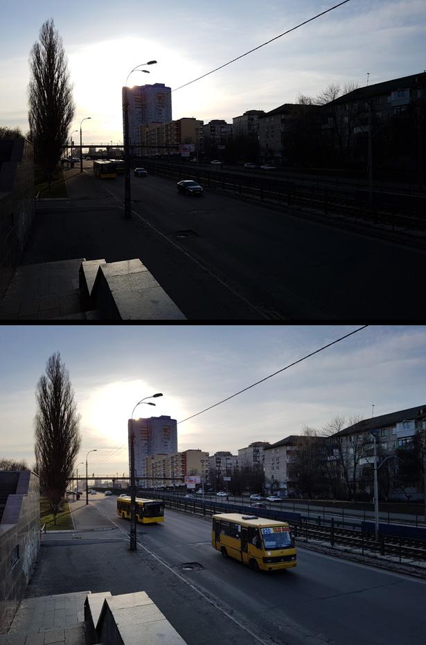 Включение HDR на камере Samsung Galaxy S7 иногда существенно преображает фото