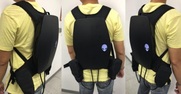 virtual reality backpack Alienware 1