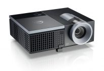 Dell 4220 projector, elevated with display open to 75 degrees, featured on a white background. Image can also be used for Dell 4320 Projector.