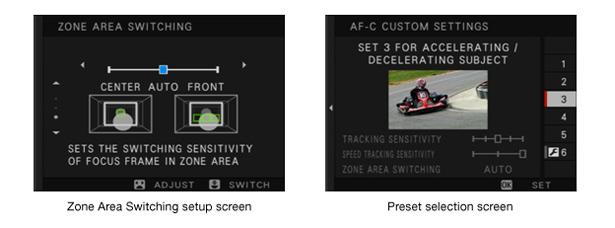 Fujifilm X-T2. Настройка следящей автофокусировки