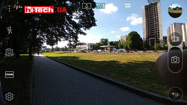Основной экран режима камеры в LG G5 se
