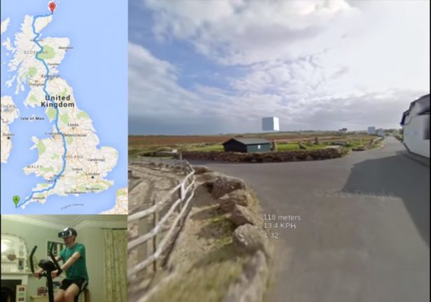 britain vr tourist cycle