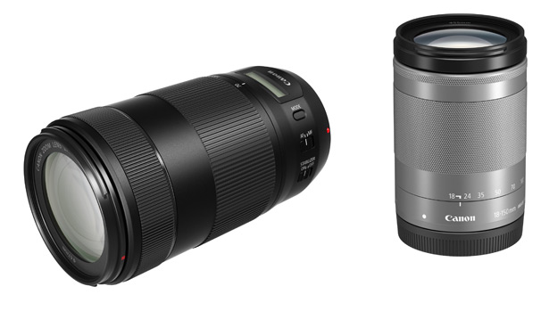 объективы Canon EF-M 18-150mm f/3.5-6.3 IS STM и EF 70-300mm F/4-5.6 IS II USM
