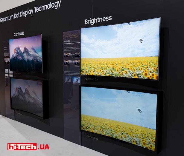 Сравнение «обычного» телевизора и телевизора с использованием Quantum dot