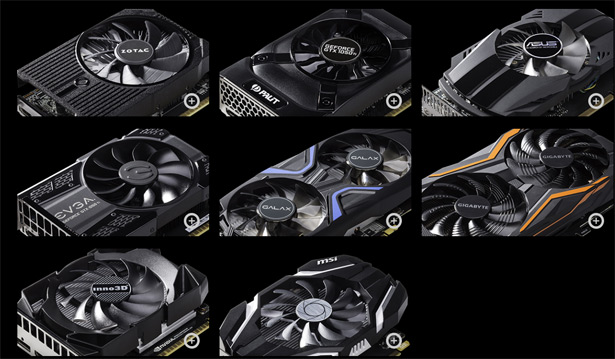 Видеокарты NVIDIA GeForce GTX 1050 и GTX 1050 Ti