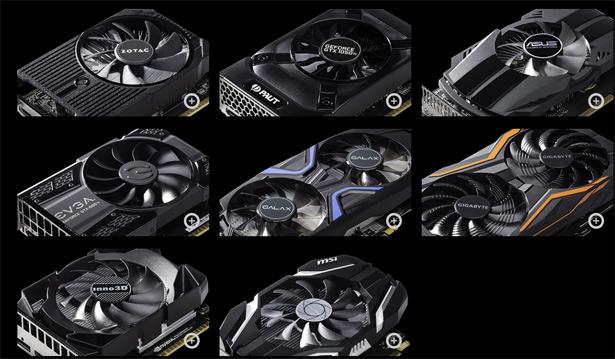 Видеокарты NVIDIA GeForce GTX 1050 и GTX 1050 Ti