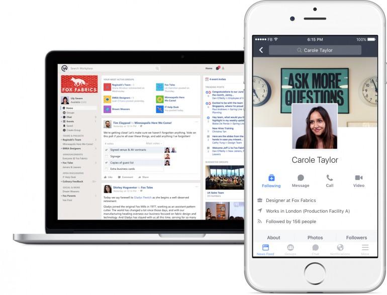 Фейсбук запустил мессенджер для корпоративного общения