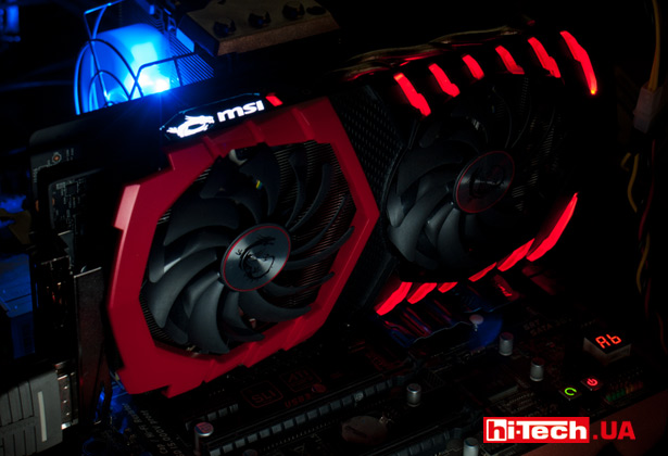 Подсветка MSI GEFORCE GTX 1060 GAMING X 6G
