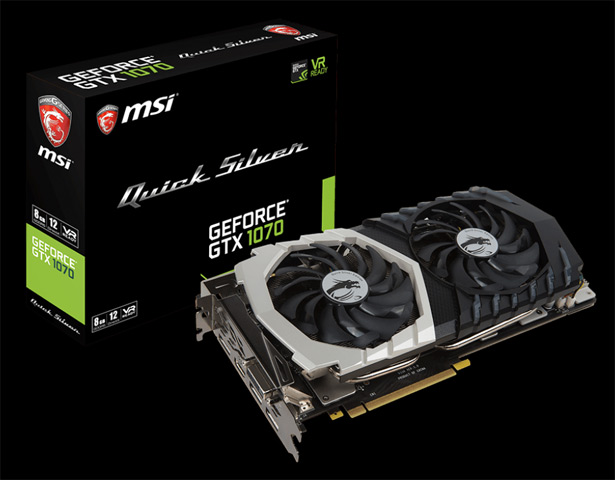 MSI GeForce GTX 1070 Quick Silver