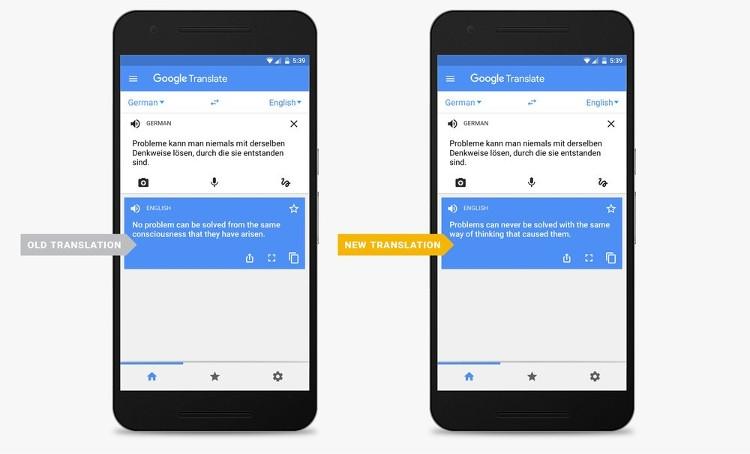 Google Переводчик получил поддержку технологии нейронных сетей