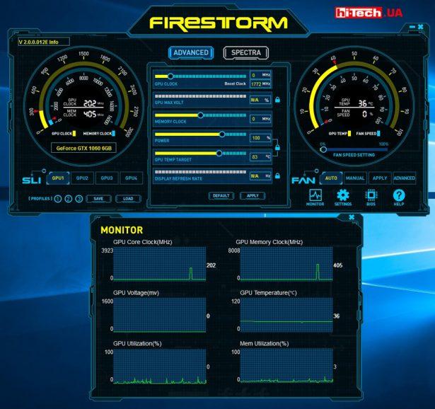 Для видеокарты предусмотрено фирменное приложение для мониторинга и разгона, которое очень-очень напоминает популярный MSI Afterburner