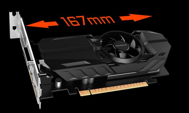 Gigabyte GeForce GTX 1050 Ti OC Low Profile 4G (GV-N105TOC-4GL)