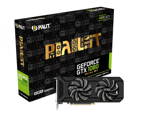 Видеокарта Palit GeForce GTX 1080 Dual OC