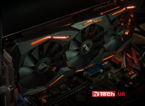Подсветка Aura RGB видеокарты ASUS ROG STRIX-GTX1060-O6G-GAMING