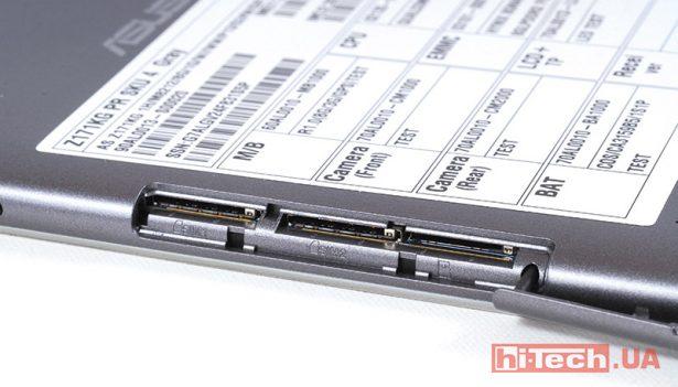 Слоты для SIM-карт и microSD раздельные и закрываются заглушкой