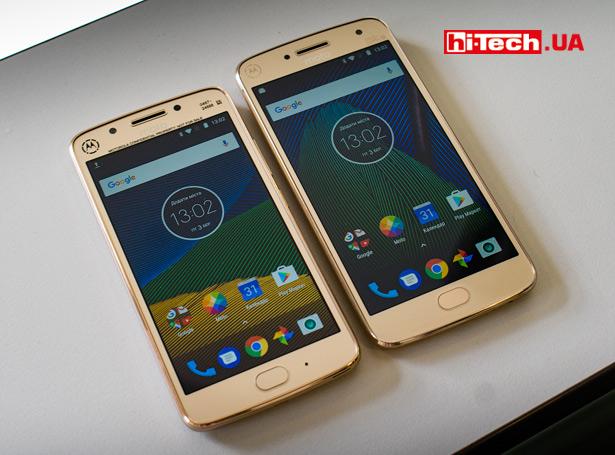 Смартфоны Moto G5 и Moto G5 Plus (справа)