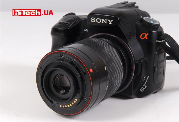 Sony Alpha DSLR-A200 с реверсивным адаптером