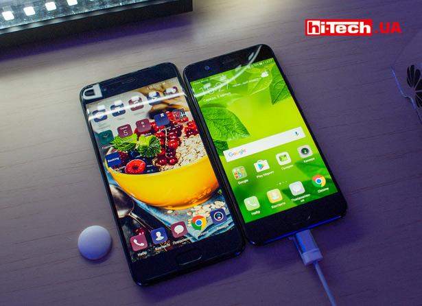 Сравнение размеров Huawei P10 и P10 Plus