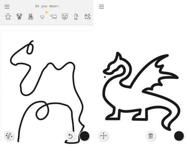 google-autodraw-camel-dragon