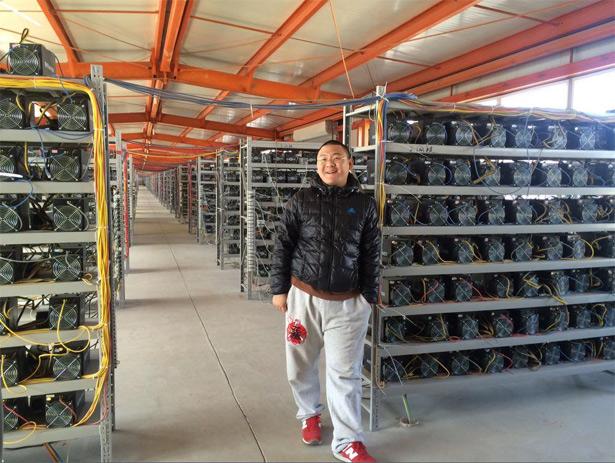 Профессиональные китайские майнеры с улыбкой смотрят на всех новых домашних, офисных, гаражных майнеров