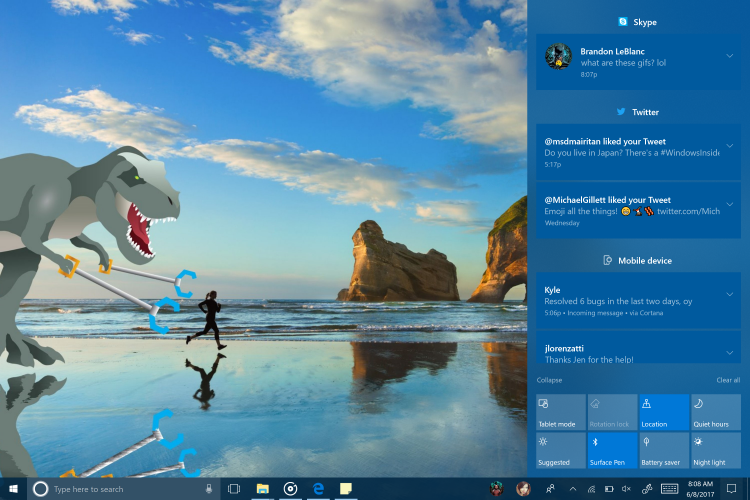 Windows 10 Fall Creators Update может получить многоступенчатые интерактивные объявления