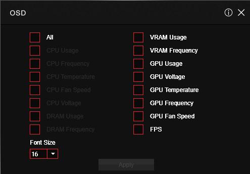 Наложение на экран различных данных (частоты, температура, FPS и т. <a href=