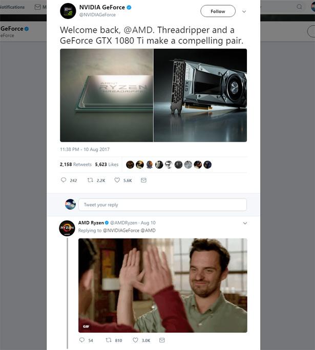 диалог AMD и NVIDIA в twitter