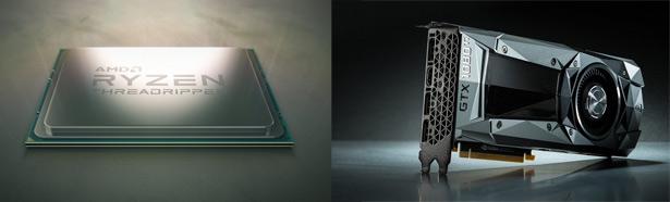 AMD, NVIDIA GTX1080Ti
