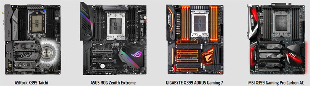 Материнские платы на базе AMD X399