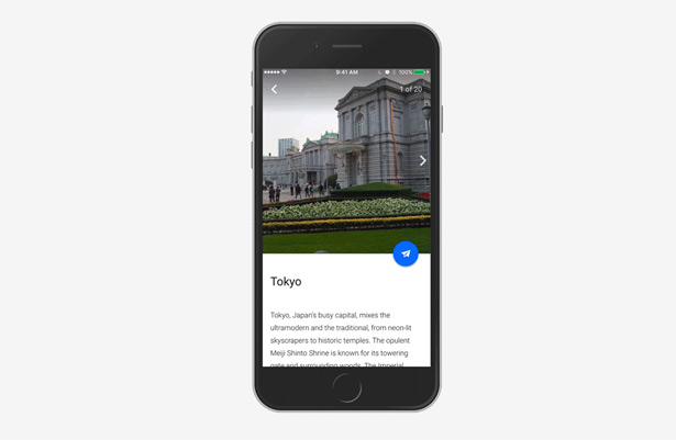 google earth Knowledge Cards