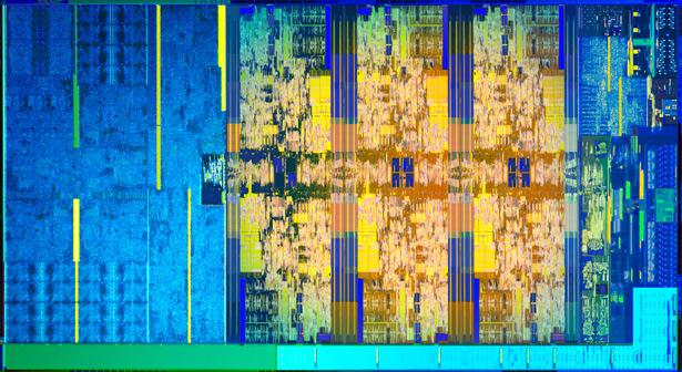 Структура 6-ядерного процессора Intel Core восьмого поколения