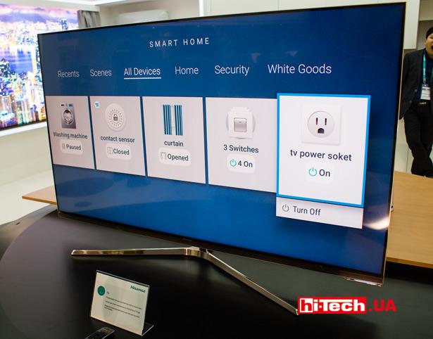 Управление умным домом с телевизора Hisense